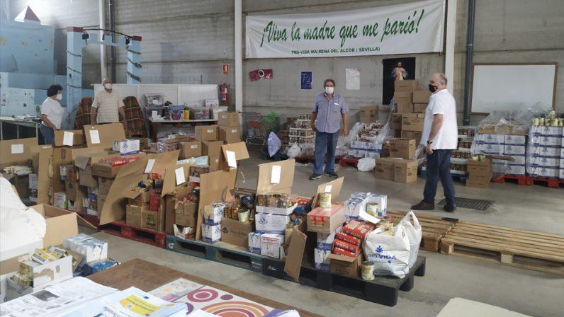 La Asociación Pro-Vida Mairena dona más de 6.000 kilos de alimentos a madres en situación de vulnerabilidad