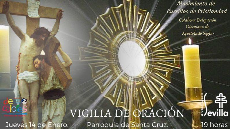 El Movimiento de Cursillos de Cristiandad organiza una Vigilia de Oración en la Parroquia Santa Cruz de Sevilla