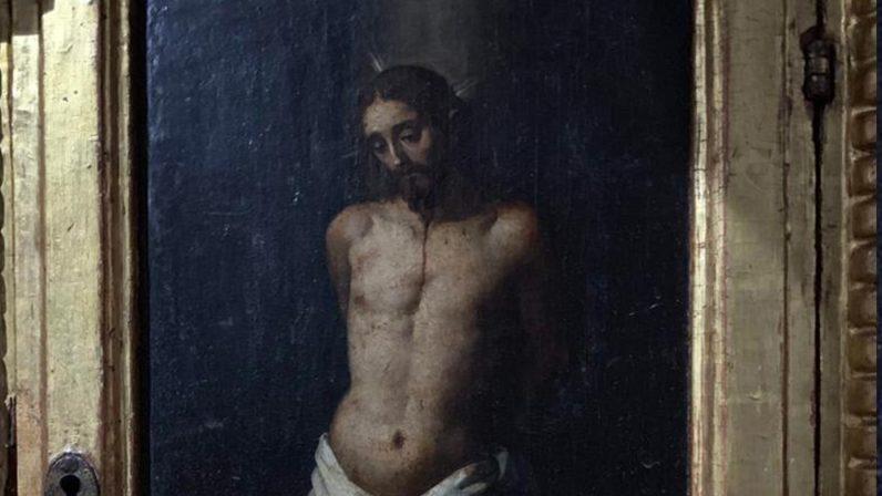 Cristo atado a la columna. Parroquia de Santa María la Blanca (La Campana)