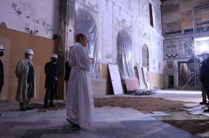 Bendición de inicio de obras de la iglesia Santa Clara