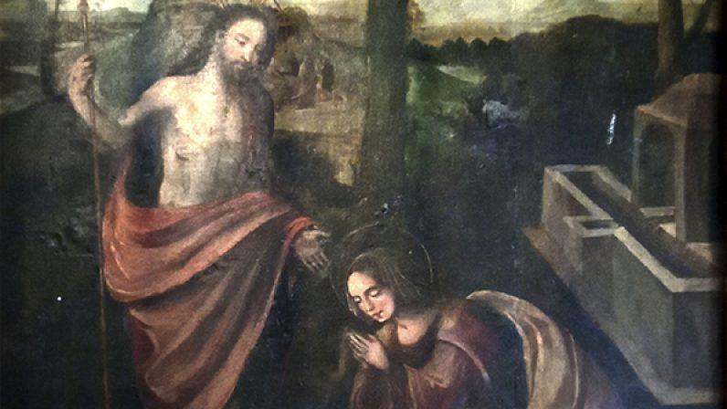 Aparición de Cristo Resucitado a María Magdalena. Catedral de Sevilla.