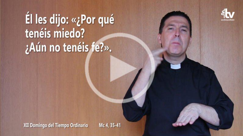 Evangelio del XII Domingo del Tiempo Ordinario (Ciclo B) en LSE