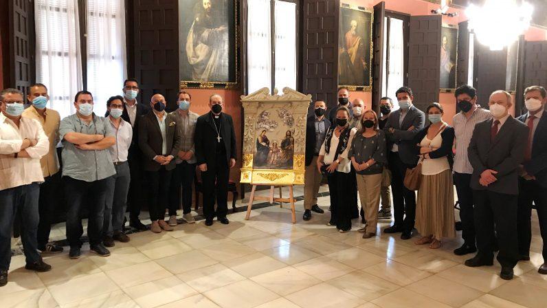 Rafael Laureano Martínez cede a monseñor Asenjo la obra 'La Trinidad en la Tierra'