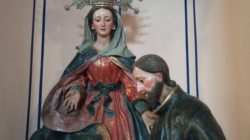 Aparición de la Virgen de los Desamparados a San Cayetano. El Saucejo