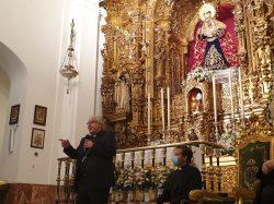 Monseñor Saiz en la Capilla de los Marineros