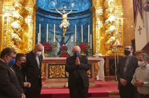 El Arzobispo de Sevilla visita la Basílica del Stmo. Cristo de la Expiración