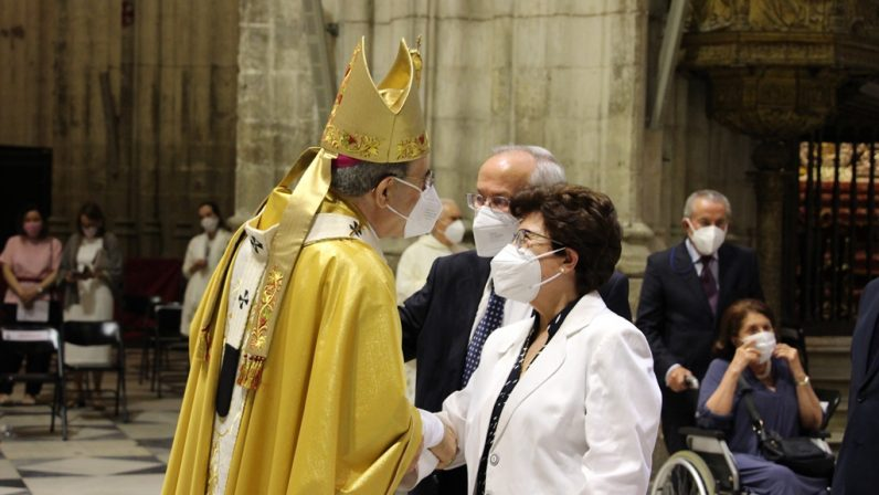 Misa de acción de gracias por el episcopado de mons. Asenjo en Sevilla