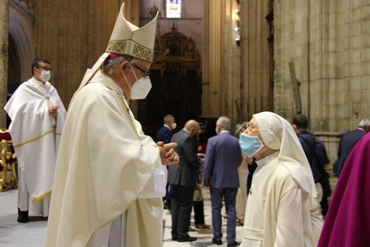 Toma de posesión de Monseñor Saiz Meneses como Arzobispo de Sevilla