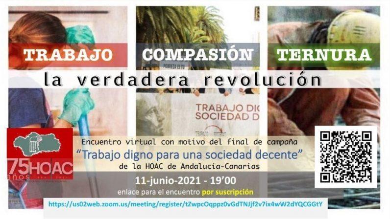 La HOAC cerrará este viernes su campaña por un trabajo decente con un acto virtual