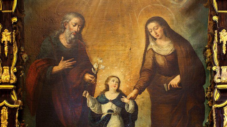 La Virgen Niña con Santa Ana y San Joaquín. Parroquia de Sta. Mª la Blanca (Los Palacios)