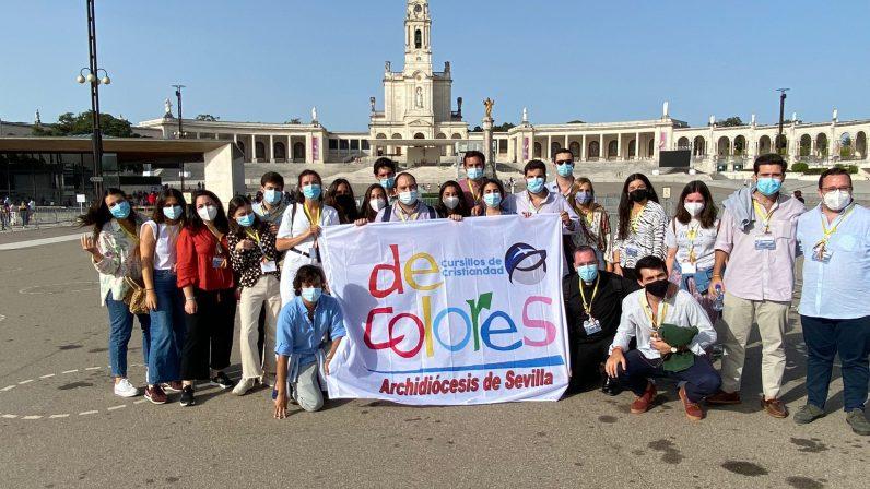 Los jóvenes del Movimiento de Cursillos de Cristiandad de Sevilla peregrinan a Fátima