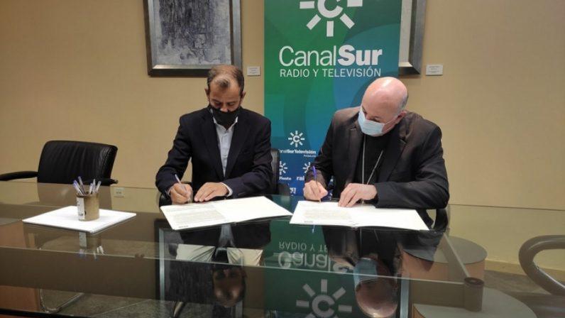 """Los Obispos del Sur renuevan el convenio con RTVA para """"divulgar el sentimiento católico"""" en radio y televisión"""