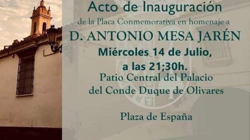 Olivares homenajea al que fuera párroco emérito de la villa