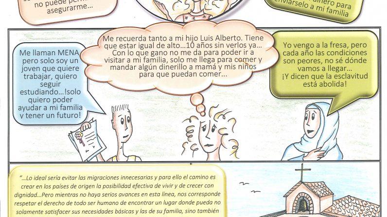 Nuevo cómic de la Acción Conjunta contra el Paro para reflexionarsobre los migrantes y refugiados
