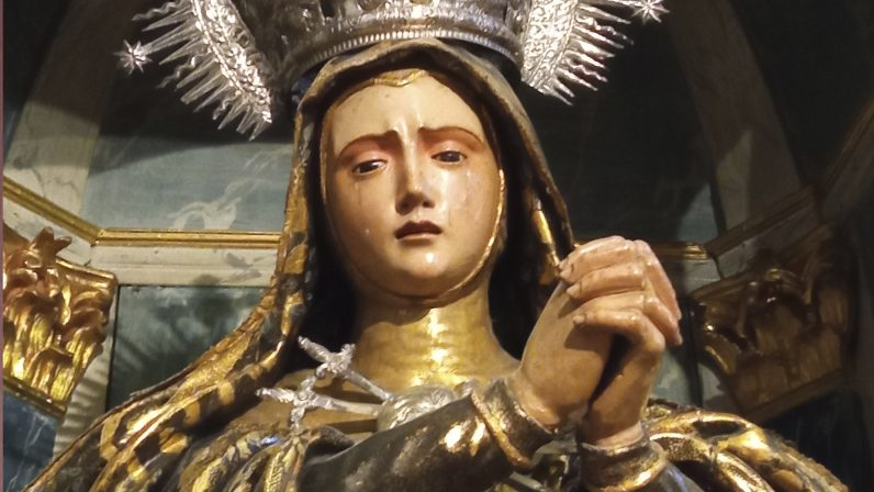 Virgen Dolorosa. Capilla de San Pedro de Alcántara (Sevilla)