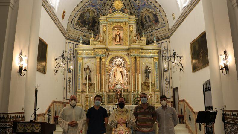 Pinturas murales de la Capilla Mayor. Parroquia San Ildefonso (Mairena del Aljarafe)